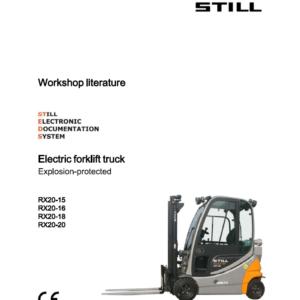 Still Electric Forklift RX20: RX20-14, RX20-15, RX-20-16, RX20-18, RX-20-20 Repair Manual