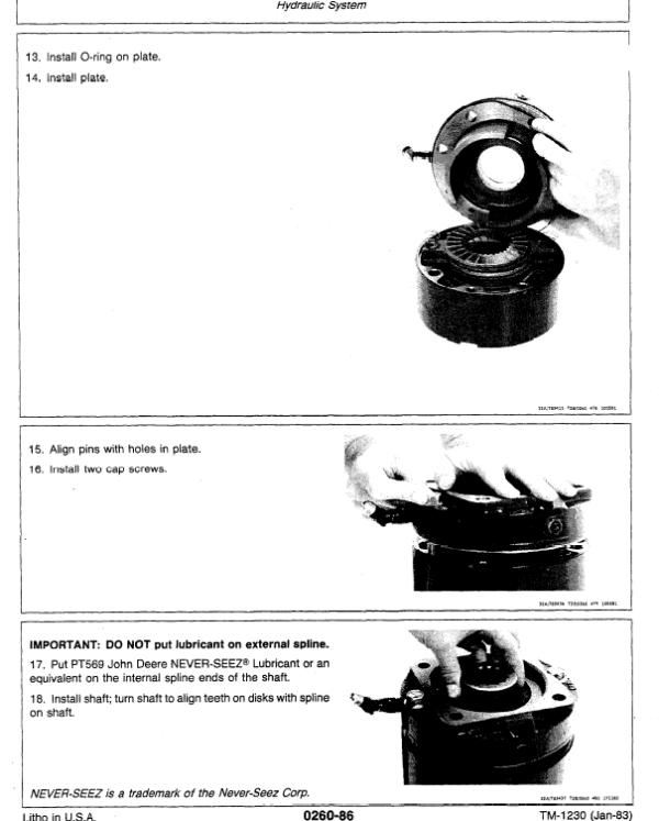 John Deere 990 Excavator Service Manual TM-1230