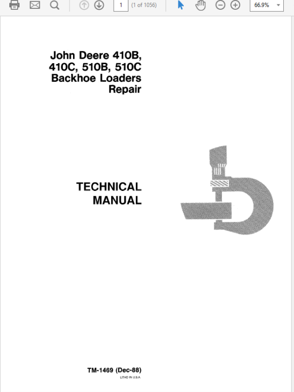 John Deere 410B, 410C, 510B, 510C Backhoe Loader Technical Manual