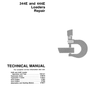 John Deere 344E, 444E Loader Service Manual TM-1421 & TM-1422