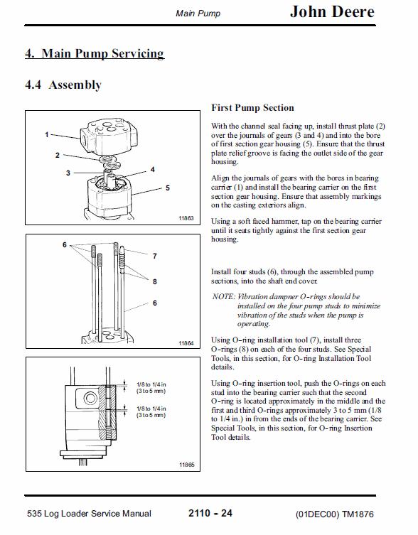 John Deere 535 Log Loader Service Manual TM-1876