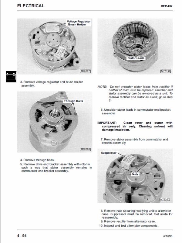 John Deere 8875 Skid-Steer Loader Service Manual TM-1566
