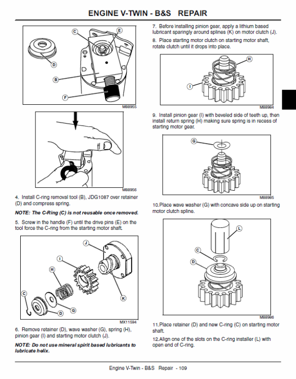 [WQZT_9871]  John Deere 100 series 102, 115, 125, 135, 145, 155C, 190C Lawn Tractor  Manual | John Deere 155c Wiring Diagram Clutch |  | The Repair Manual