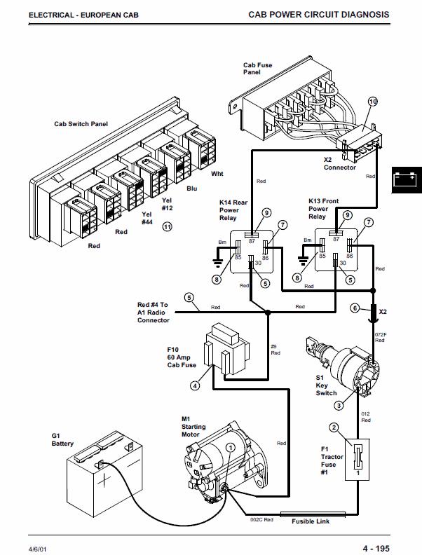 John Deere 4200, 4300, 4400 Compact Utility Tractors Service Manual | John Deere 4200 Wiring Harness |  | The Repair Manual