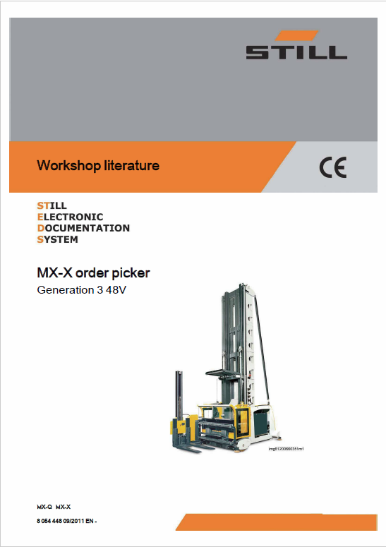 Still MX-X Order Picking Truck Generation 3, 48v and 80v Workshop Repair Manual