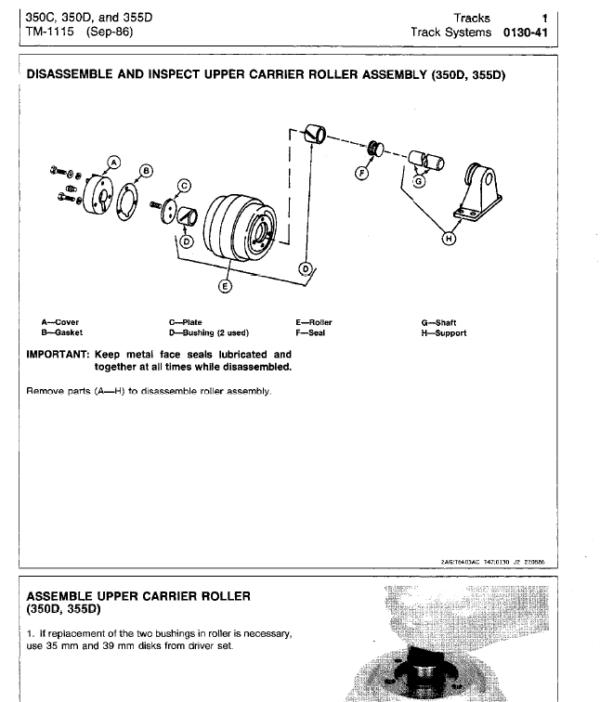 John Deere 350C, 350D, 355D Crawler Tractor Loaders Service Manual