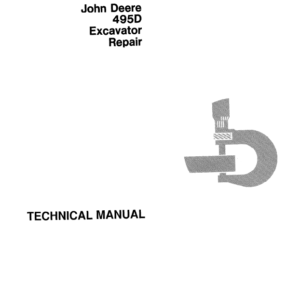 John Deere 495D Excavator Technical Manual TM-1456 & TM-1457