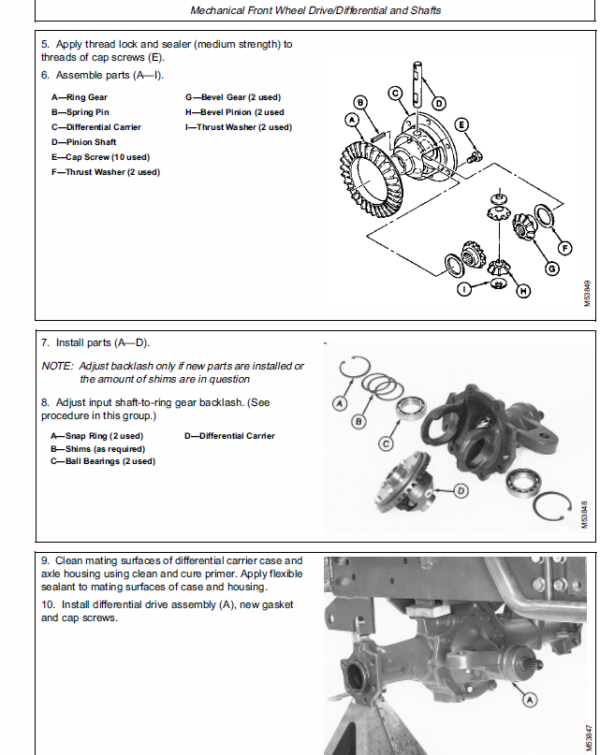 John Deere 670, 770, 790, 870, 970, 1070 Compact Utility Tractor Service Manual TM-1470