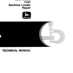 John Deere 710C Backhoe Loader Manual TM-1450 & TM-1451