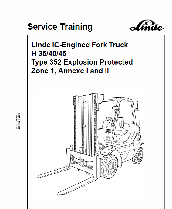 linde forklift truck 352 series h 35 h 40 h 45 h 50 repair service rh therepairmanual com Manual Book D Manual Book D
