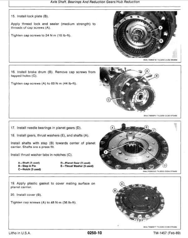John Deere 495D Excavator Service Manual