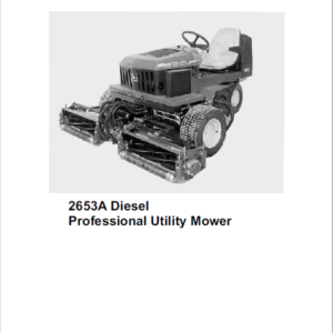 John Deere 2653, 2653A Utility Mower Technical Manual