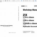 Hitachi Zx110-3, Zx120-3, Zx135us-3 Excavator Service Manual