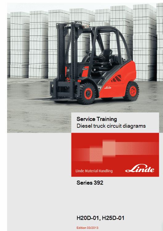 Linde 392 Forklift : H20D, H25D, H20T, H25T Service Repair Manuals