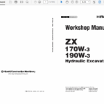 Hitachi ZX170W-3 and ZX190W-3 Excavator Service Manual