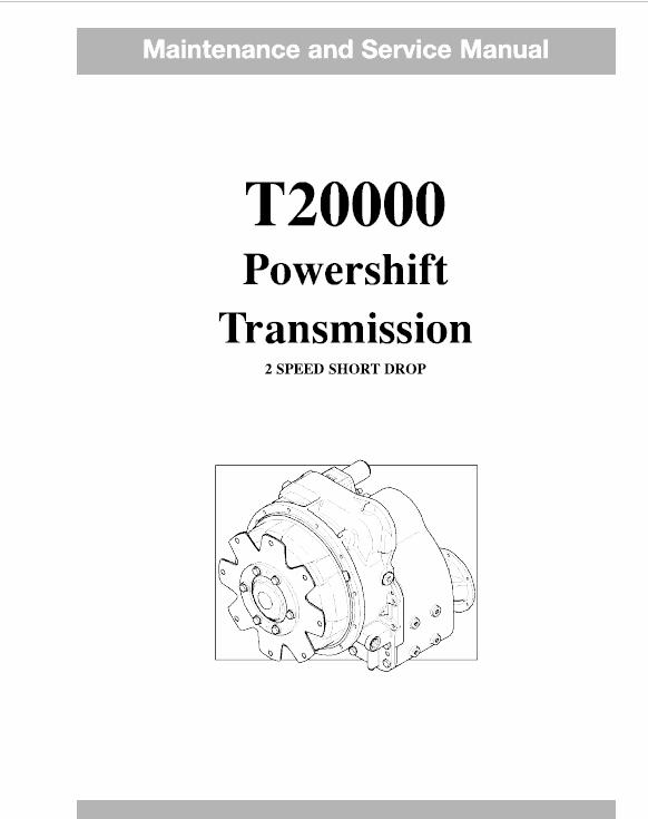 OM Pimespo T20000 Powershift Transmission 2 Speed Short Drop Workshop Manual