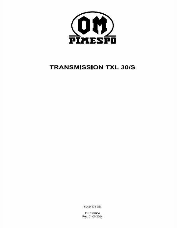 Om Pimespo Transmission TXL 30/S