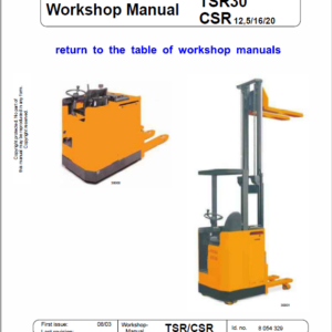 OM Pimespo TSR20, TSR30, TSR31, CSR Workshop Repair Manual