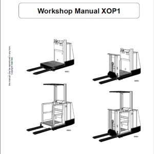 OM Pimespo XOP1 Ordre Picker Workshop Repair Manual