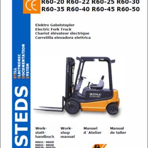 Still Electric Fork Truck R60: R60-22 R60-25 R60-30, R60-35 R60-40 R60-45 R60-50 Workshop Manual