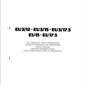OM Pimespo EU3/12, EU3/15 and EU3/17.5 Forklift Workshop Manual