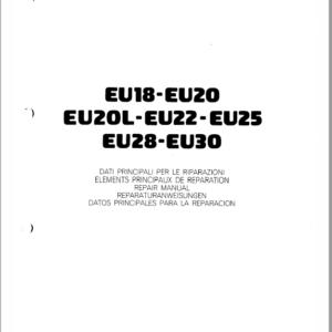 OM Pimespo EU18, EU20, Eu20L, EU22, EU25, EU28 and EU30 Forklift Workshop Manual