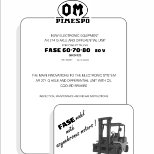OM Pimespo Fase 60, 70 and 80 80v Forklift Workshop Repair Manual