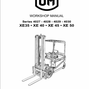 OM Pimespo XE35, XE40, XE45, XE50 Forklift Workshop Manual