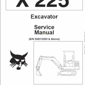 Bobcat X225 Excavator Service Manual