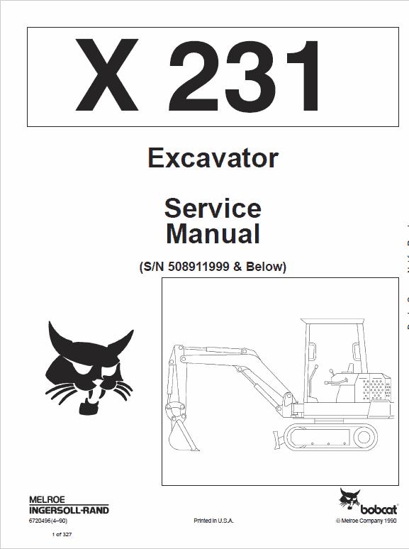 Bobcat X231 Excavator