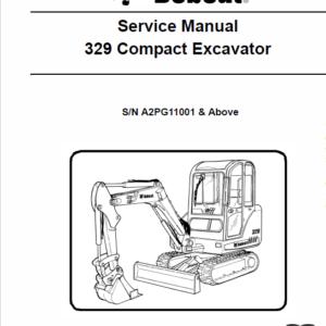 Bobcat 329 Compact Excavator Service Manual