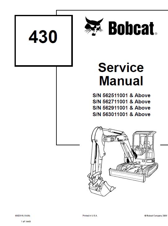Bobcat 430 Compact Excavator