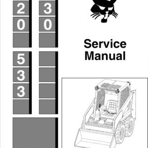 Bobcat 520, 530 and 533 Skid-Steer Loader Service Manual