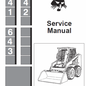 Bobcat 641, 642 and 643 Skid-Steer Loader Service Manual