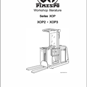 OM Pimespo XOP2, XOP3, XOP2ac and XOP3ac Ordre Picker Workshop Repair Manual