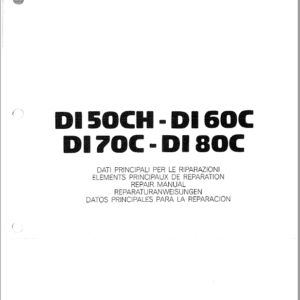 OM Pimespo DI50CH, DI60C, DI70C and DI80C Forklift Workshop Manual