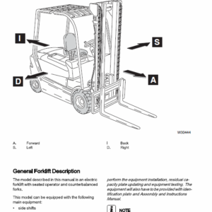 OM Pimespo XE22ac, XE25ac, XE25Lac, XE30ac Forklift Workshop Manual