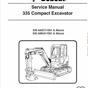 Bobcat 335 Compact Excavator Service Manual