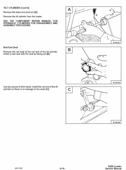 Bobcat 642B Skid-Steer Loader Service Manual