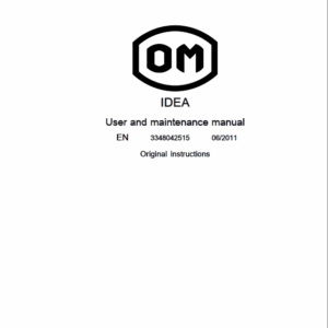 OM PIMESPO IDEA Series 334-03 Workshop Repair Manual