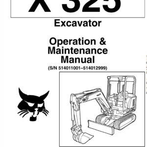 Bobcat X325 and X328 Excavator Service Manual