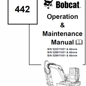 Bobcat 442 Excavator Repair Service Manual