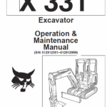 Bobcat X331, X331E and X334 Excavator Service Manual