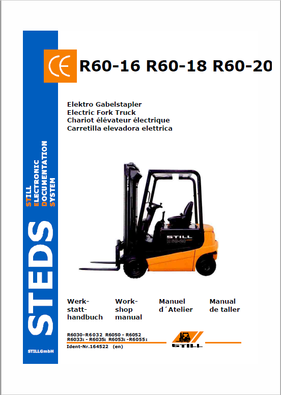 Still Electric Fork Truck R60-16 R60-18 R60-20 Workshop Repair Manual