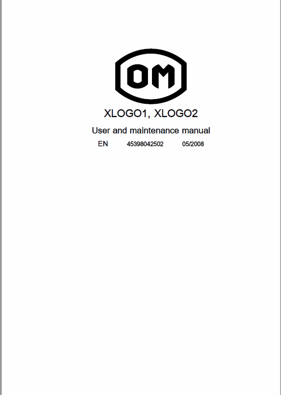 OM PIMESPO XLOGO1 and XLOGO2 Series 4539 – 4549 Order Picker Workshop Repair Manual
