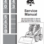 Bobcat 540 and 543 Skid-Steer Skid-Steer Loader manual