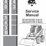 Bobcat 540, 543 and 543B Skid-Steer Loader Service Manual