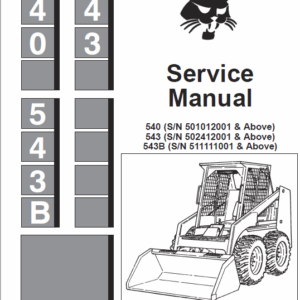 Bobcat 540 and 543 Skid-Steer Loader manual
