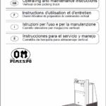 OM Pimespo XOP1 Ordre Picker Workshop Repair Manual