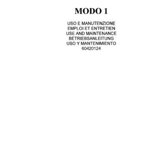 OM PIMESPO Modo 1,2,3 Series 014 Mid and High-lift Order Pickers Workshop Repair Manual